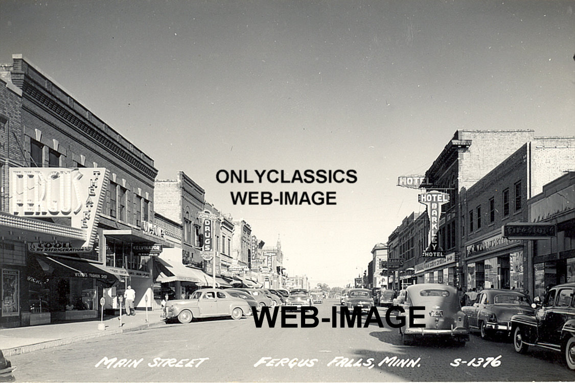 40 39 s fergus falls mn mainstreet photo architecture cityscape americana theater ebay. Black Bedroom Furniture Sets. Home Design Ideas