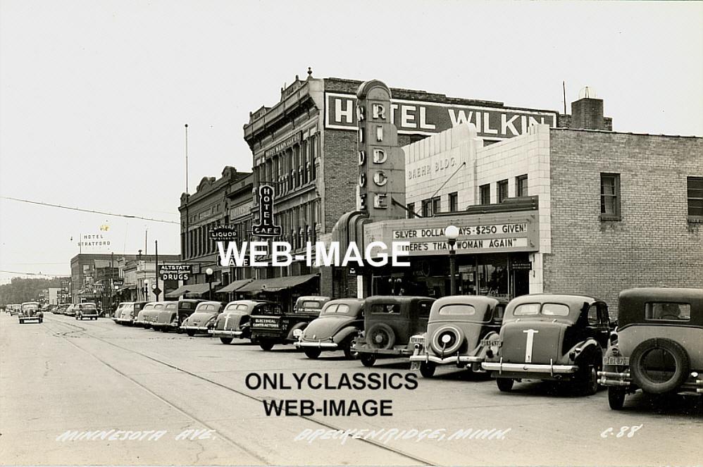 1939 breckenridge mn main street art deco theater marquee