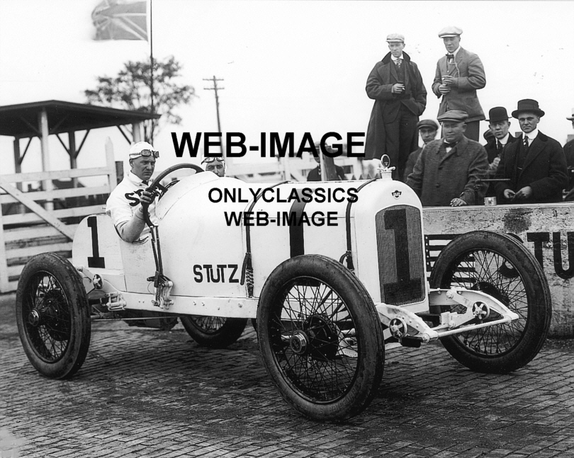 1915 Indy 500 Stutz Racer Auto Racing Howdy Wilcox Photo