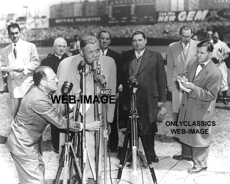 June 13, 1948: Babe Ruths farewell at Yankee Stadium