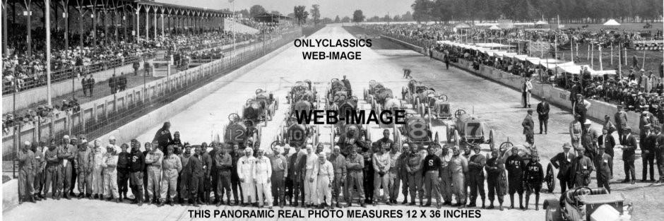 1912 Indianapolis Motor Speedway Big Panoramic Photo Auto