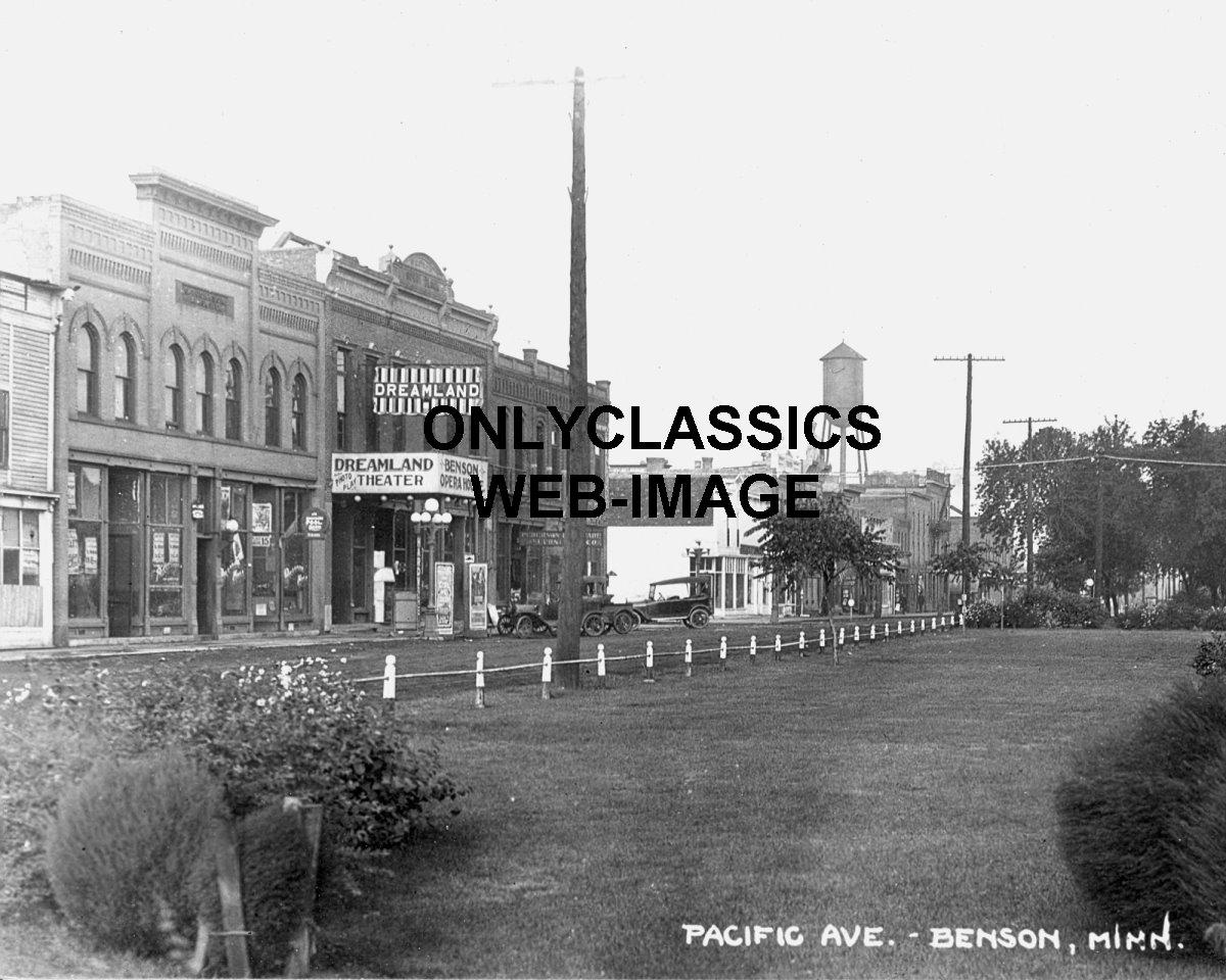 1917 dreamland movie theater marquee photo benson mn