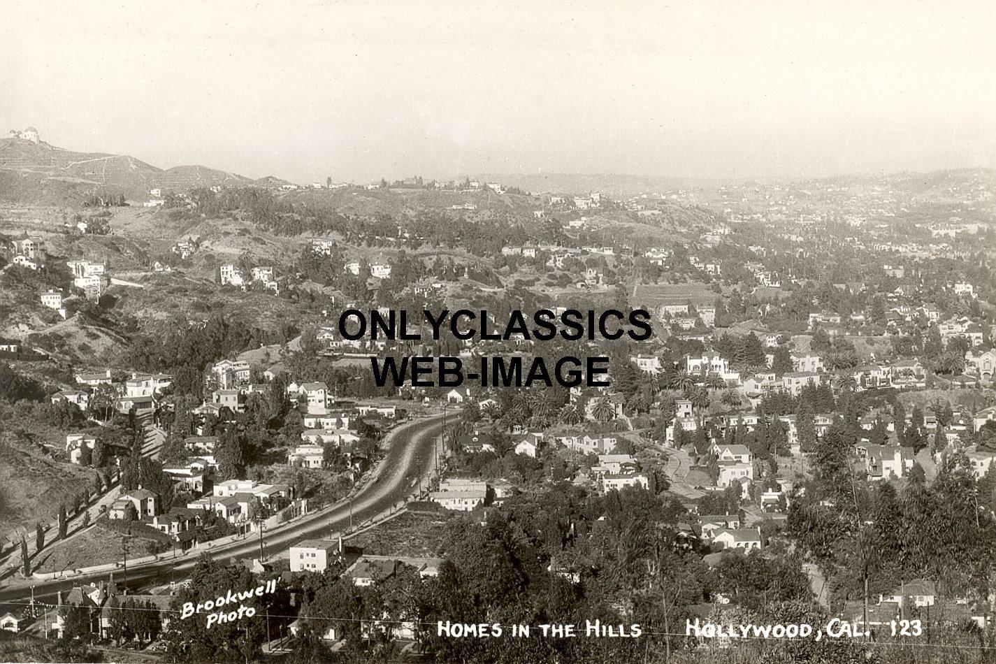 1930 39 s hollywood hills california homes aerial panoramic