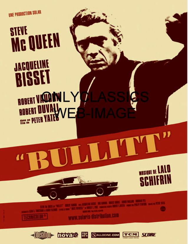 1968 DETECTIVE COP STEVE MCQUEEN BULLITT FORD MUSTANG ...