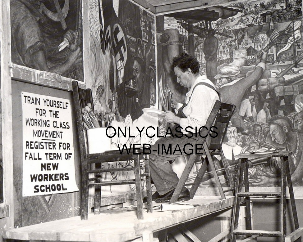 1933 mexican painter artist diego rivera photo mural for Diego rivera mural new york rockefeller