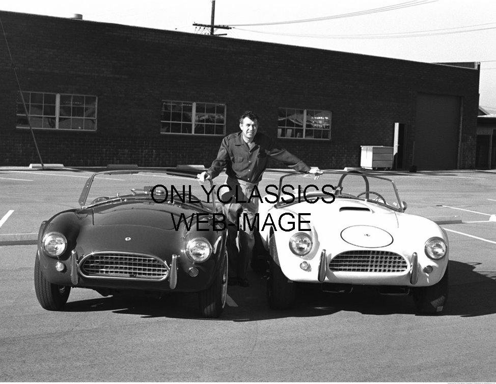 CARROLL SHELBY AC COBRA SPORTS CAR AUTO RACING PHOTO ...