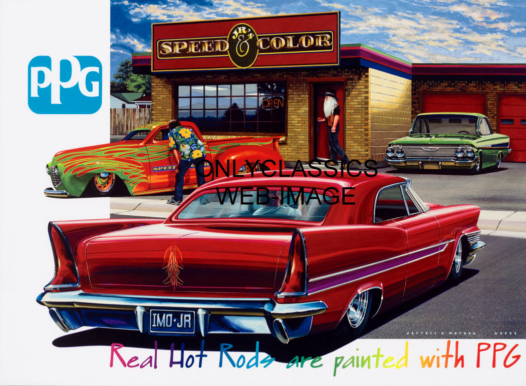 PPG ADVERTISING CAR POSTER-JR'S SPEED & COLOR HOT ROD ...