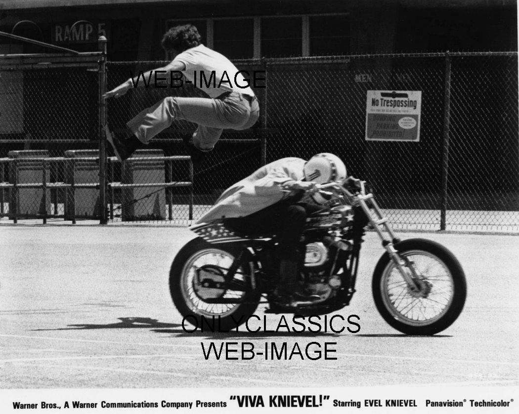 Evel Knievel S Viva Knievel Bike Heads To Auction: 1977 VIVA KNIEVEL DOING DAREDEVIL STUNT EVEL HARLEY