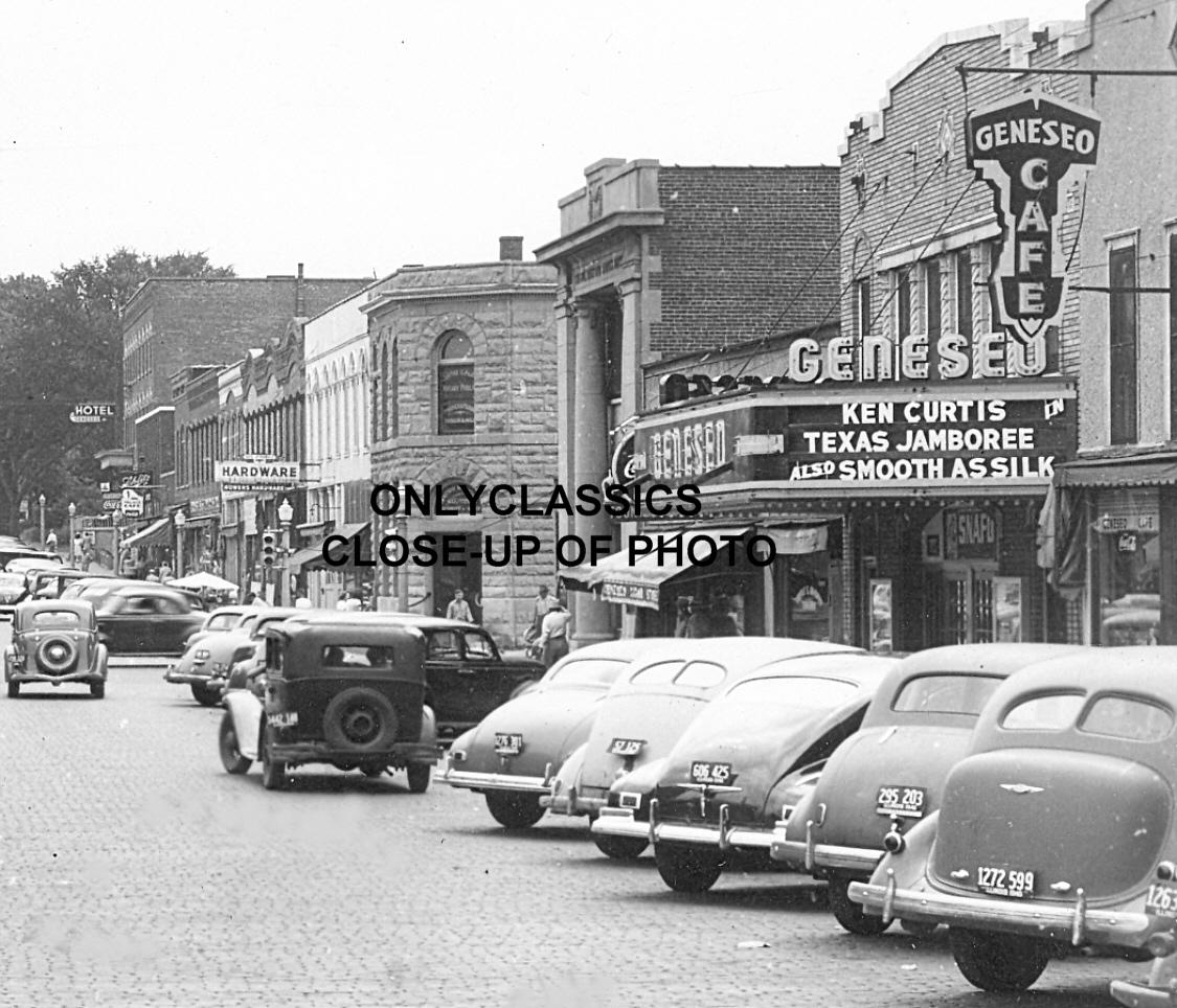 1946 geneseo illinois main street photo movie theater