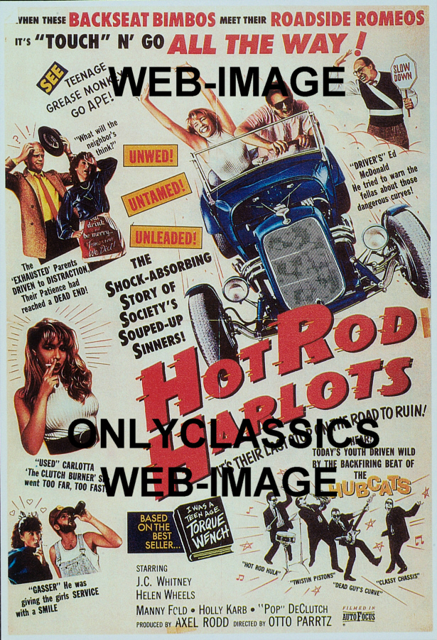 Amazoncom Hotrod Girl Movie Poster  Rare Vintage