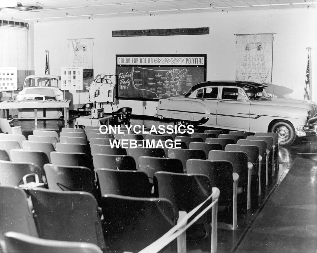 1953 Pontiac Auto Dealer Car Meeting Training Center Photo