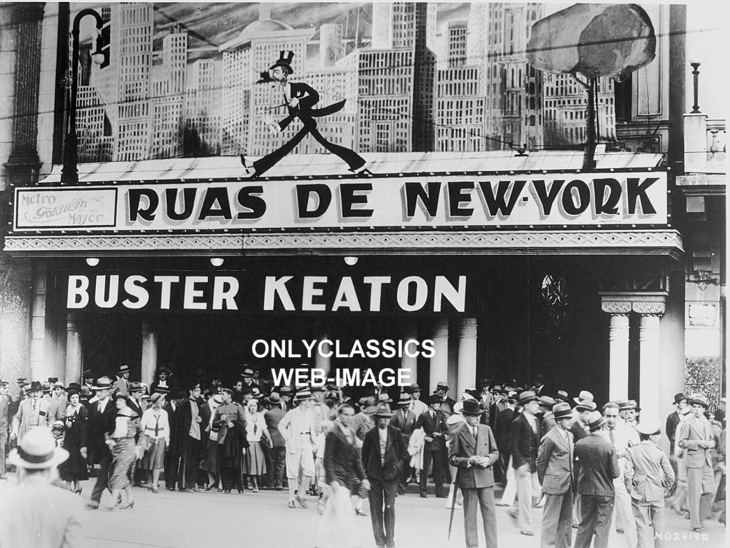 ART DECO MOVIE THEATER BUSTER KEATON MGM NEW YORK PHOTO