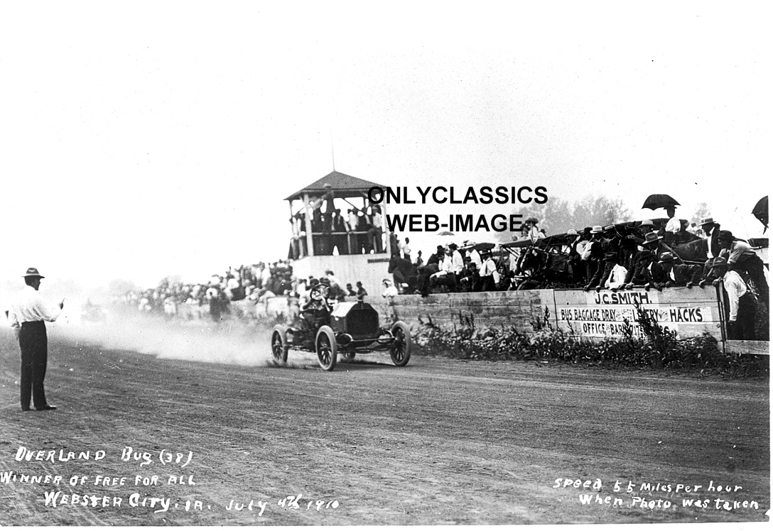 1910 overland bug racer early auto racing photo webster
