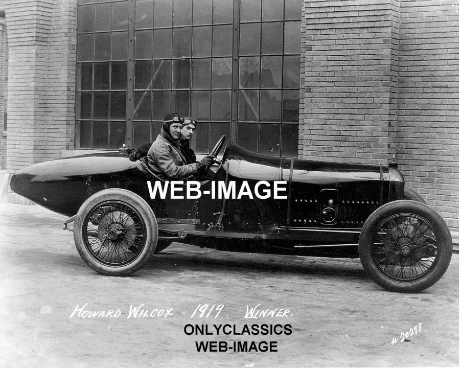 1919 Howdy Wilcox Indy 500 Race Early Winner Peugeot Auto
